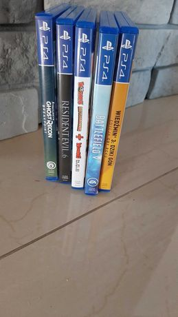 gry na ps4:wiedzmin,batterfield,resident 6, ghost recon
