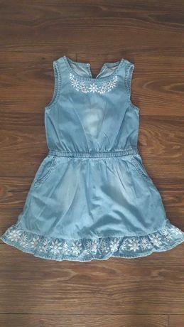 Jeansowa sukienka bez rękawów, rozmiar 116 CoolClub