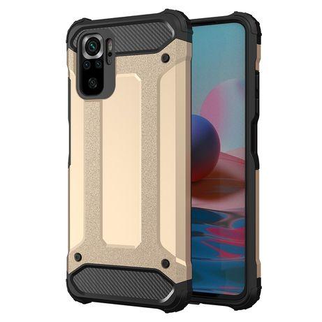 Capa Rígida/Semi Rígida Traseira Hybrid Case Tough Rugged Cover Xiaomi Redmi Note 10 Pro Dourado