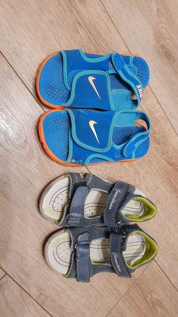 NIKE i Baren schuhe 2 pary Sandały dla chłopca 29 - 19 cm zestaw
