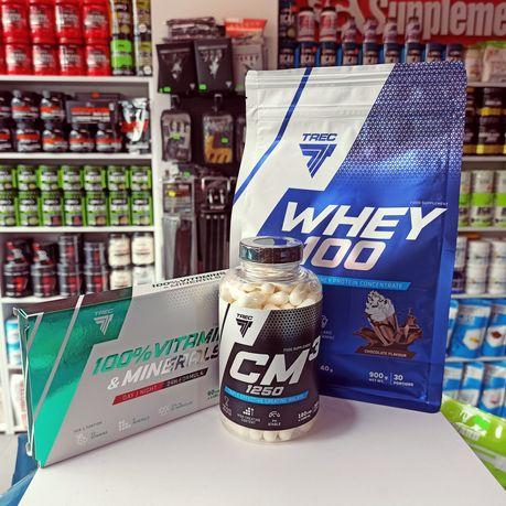 TREC zestaw odżywek Białko, kreatyna i witaminy, Odżywki masa, siła
