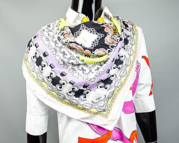 Фирменный шелковый платок Codello.Красивый большой платочек.Шов Роуль