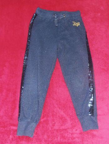 Lindex , spodnie, brokatowe dziewczęce rozm.122, cekiny