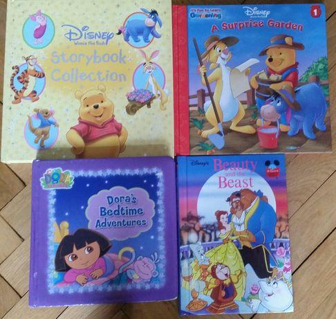 Książki po angielsku English books Dora,Beauty and the Beast,Pooh