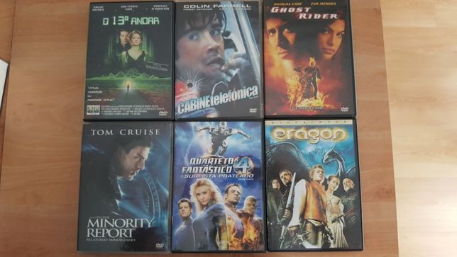 55 DVD's + 1 Video CD de filmes variados