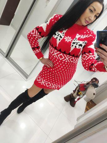 Sukienka sweterek Zima