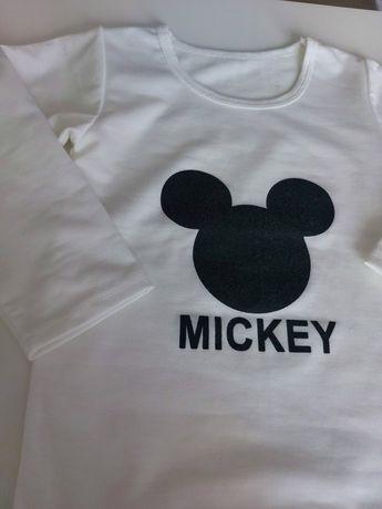 Koszulka Bluza r 86/92 (12-24 m-cy) Jak NOWA Myszka Mickey Jesień