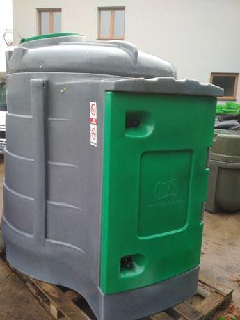 Zbiornik do paliwa 2500l z dużą szafą do ON