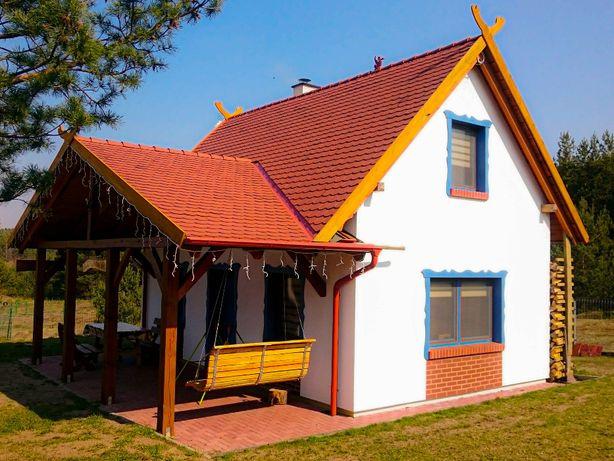 Smerfna Chatka - Całoroczny domek z kominkiem na Kaszubach - ferie