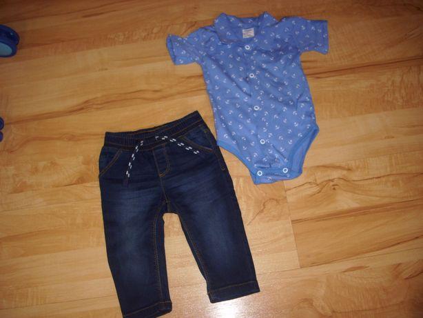spodnie dżinsowe i inne dla chłopca