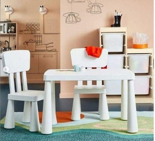 В НАЯВНОСТІ ! ИКЕА Маммут детский стол,стул ,Ikea Mammut дитячий набір