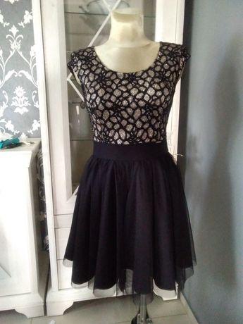 Piękna kokrajlowa sukienka Infinity r 38 - wesela