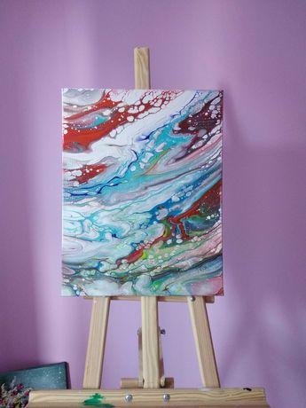 Картина абстракція рідким акрилом