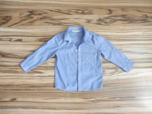R 104 koszula H&M niebieska prążki