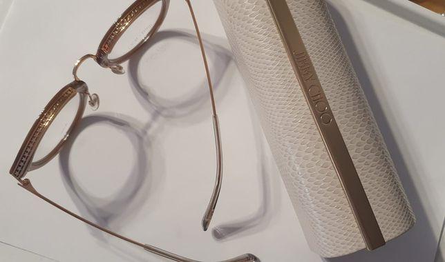 Markowe oprawki okularowe JIMMY CHOO  ( okulary) + futerał