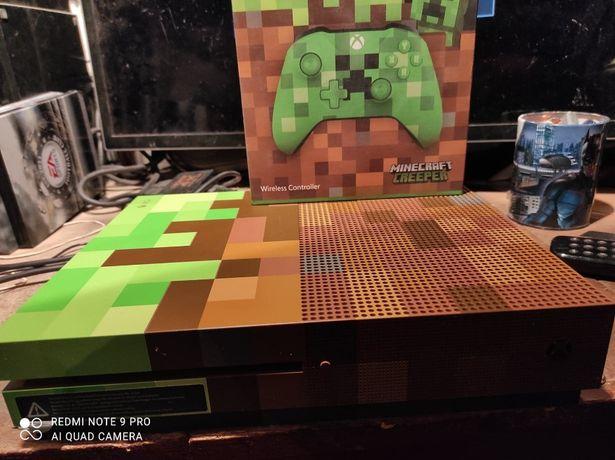 Konsola Xbox One S 1TB edycja Minecraft z padem i okablowaniem i gry