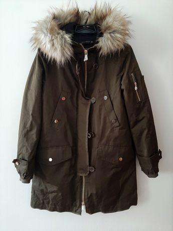 Zara nowa kurtka damska z futerkiem XS - S