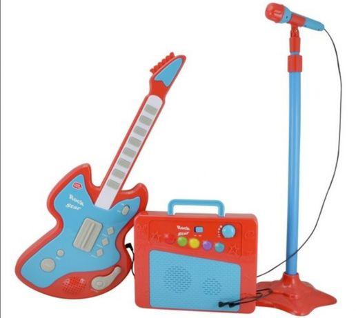 Gitara wzmacniacz mikrofon super zestaw dla dzieci