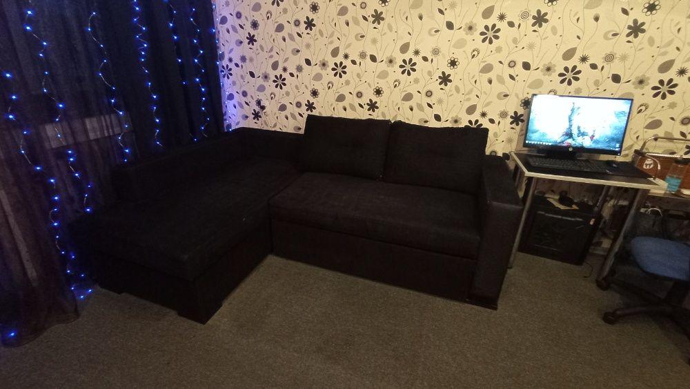 Угловой диван черного цвета Одесса - изображение 1