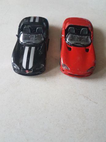 samochody Burago Viper resoraki  kolekcje zestaw 2szt.