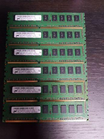 Apple Micron ECC ОЗУ 6gb 1gbx6шт. RAM память DDR3 PC3 10600R 1333MHz