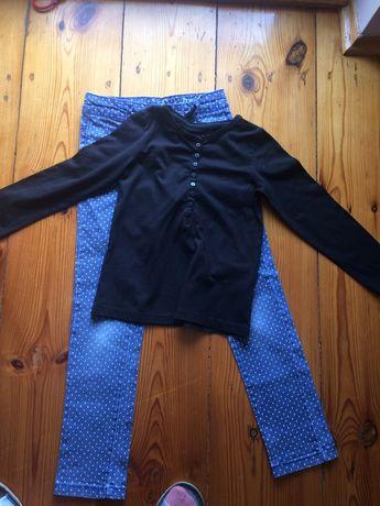 Dżinsy w kropki 134/ bluza128