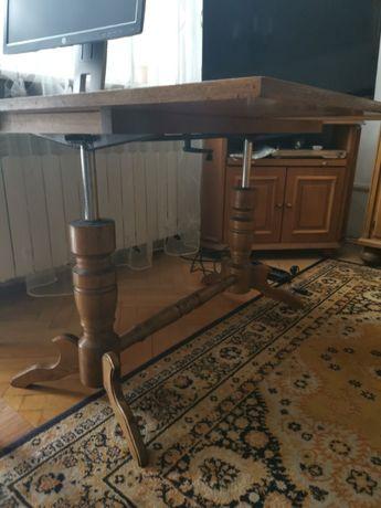 Stół rozkładany, podnoszony, dąb rustikal - stan dobry