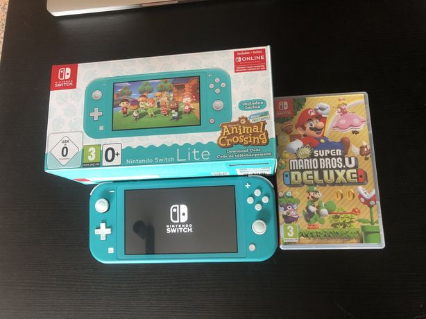Switch Lite 32gb + Jogos + 64gb sd + Nintendo Online