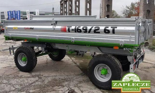 Przyczepa rolnicza T-169/2 Cynkomet Czarna Białostocka 6 ton