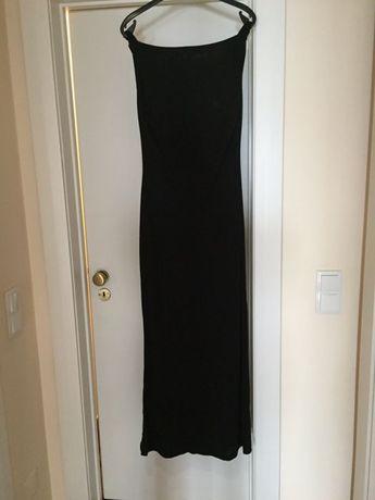 Vestido de noite comprido com costas descaídas