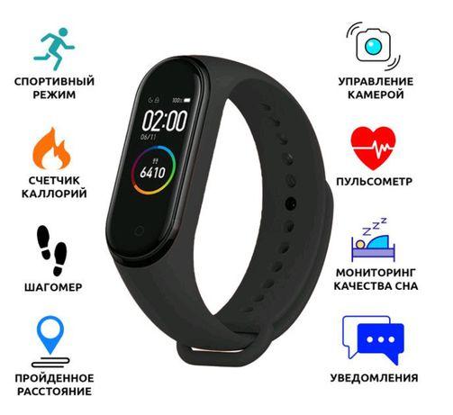 Фитнес трекер, браслет M5 Аналог Xiaomi Mi Band 5 давление