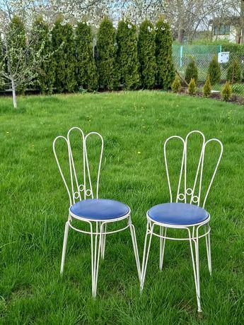 Komplet ogrodowy 4 krzesła metalowe