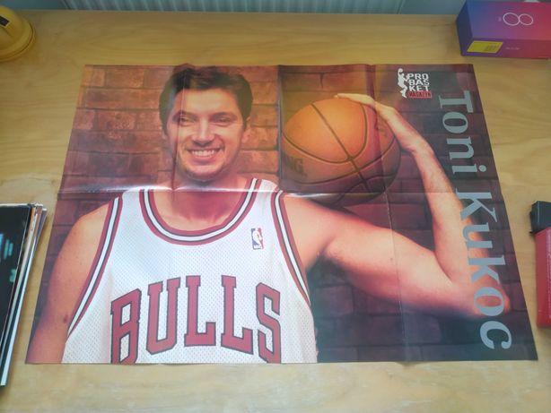 Duży plakat NBA Bulls Toni Kukoc, Nowy!