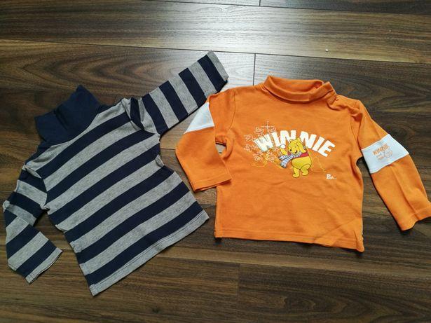 Bluzeczki z golfem 2 szt. H&M r.86/92, Disney
