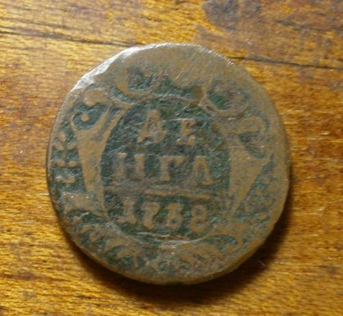 Монета Денга 1738 года