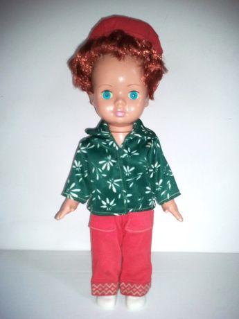 Piękna stara lalka PRL + ręcznie szyte ubrania