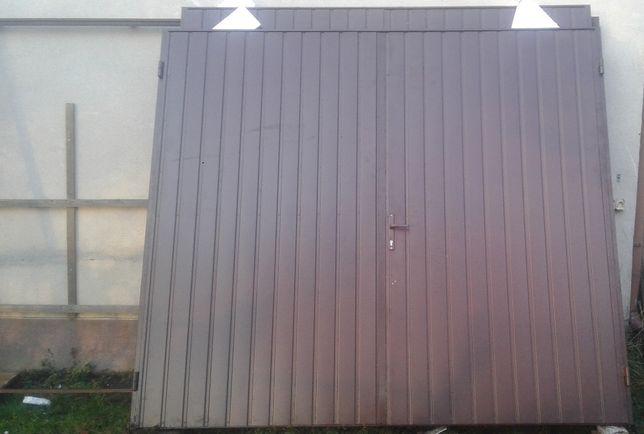 brama garażowa brązowa ocieplana 4120 x 2410