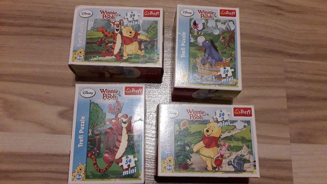 Puzzle Trefl Kubuś Puchatek zestaw czteropaków, 4 po 54 elementy
