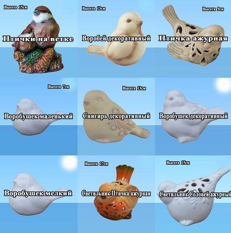 Фигурки из керамики Птичка Синичка Воробей Почту просматриваю системат