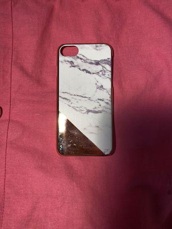 Case na telefon marmurowo złoty. Iphone 6/6s/7/8