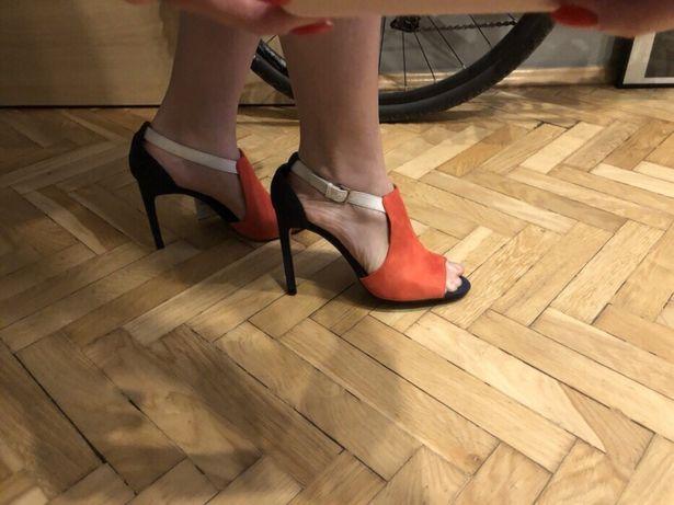 Sandały ZARA pomarańczowe 41 NOWE