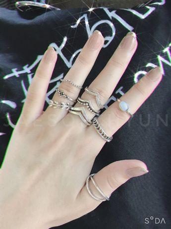 кольца на фаланги (набор 9 шт.)