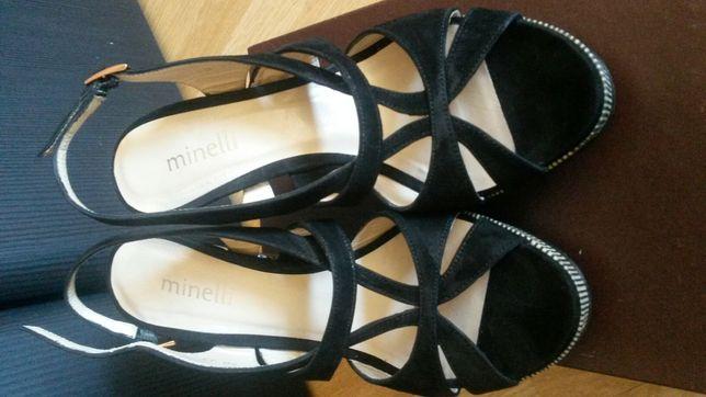 Новые. Обувь. Замша, кожа. Босоножки Minelli (оригинал)