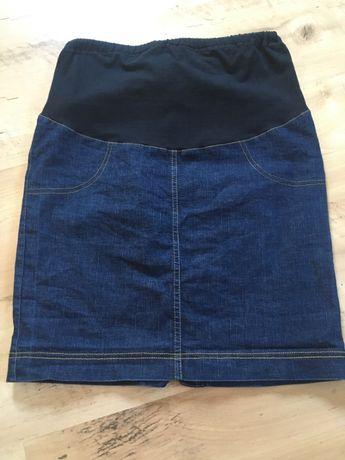 jeansowa spódnica ciążowa, rozm. S