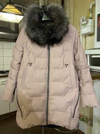 Зимній теплий пуховик