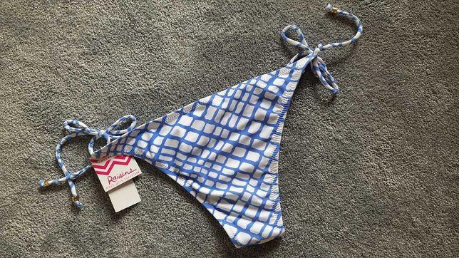 Dół od bikini biało niebieski