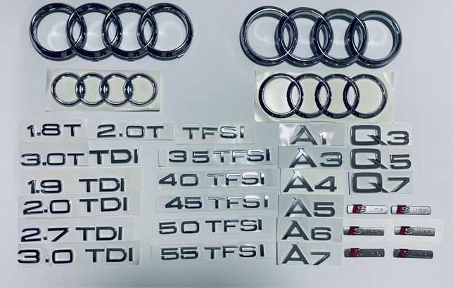 Эмблема шильдик значок Audi A3 A4 A5 A6 A7 A8 Q3 Q5 Q7 TFSI TDI 2.7 3