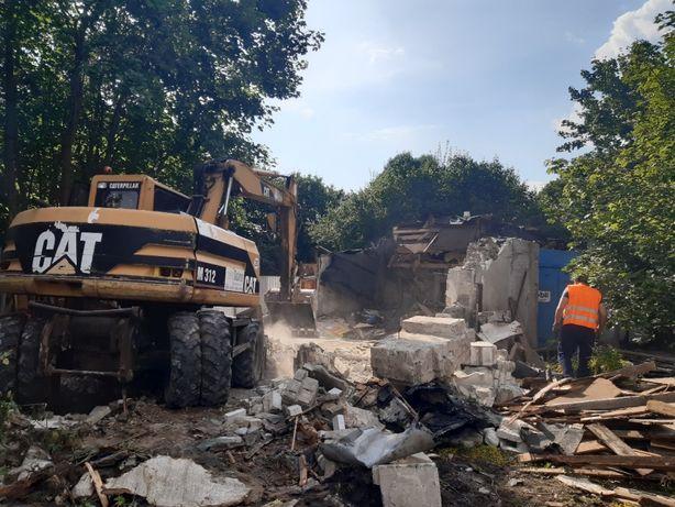 Rozbiórki , drenaże , wyburzenia , wykopy , płyty betonowe koparka