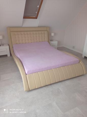 Łóżko 160x200 skóra naturalna