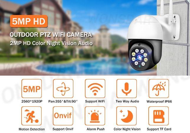 Câmera Vídeo Vigilância WIFI 5MP • Rotativa Exterior • Auto Tracking